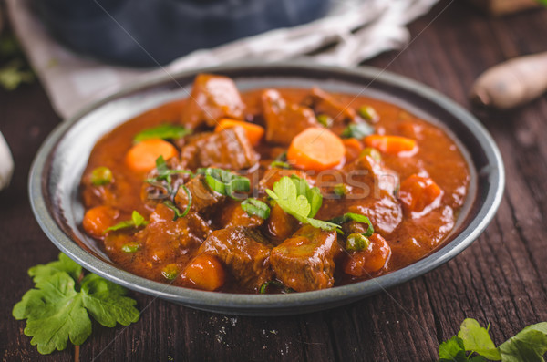 Beef stew with carrots Stock photo © Peteer