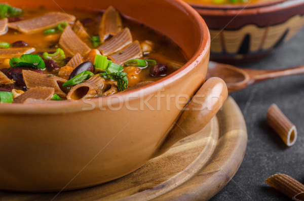 Pasta soup delish Stock photo © Peteer