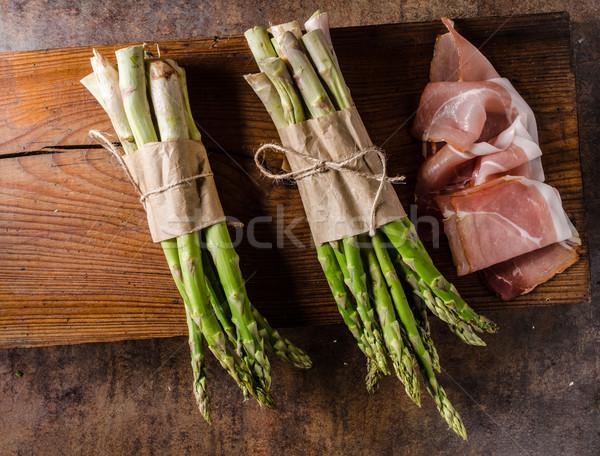 新鮮な アスパラガス ベーコン バイオ 品質 ストックフォト © Peteer