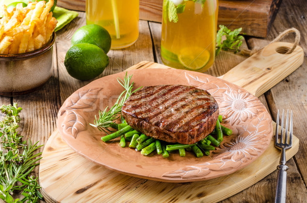 Beef sirloin steak Stock photo © Peteer