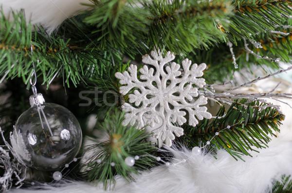 クリスマスツリー 伝統的な 贈り物 ライト 白 ツリー ストックフォト © Peteer