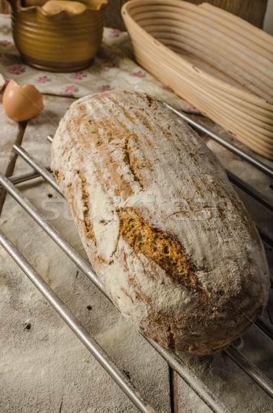 Homemade rustic bread, baked in oven Stock photo © Peteer