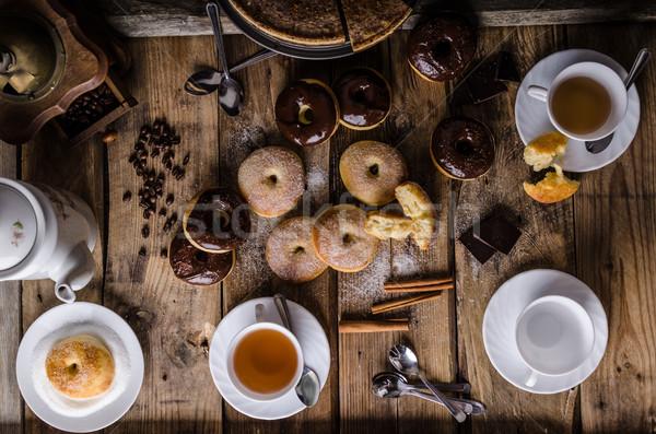 Edad estilo rústico azúcar chocolate oscuro Foto stock © Peteer