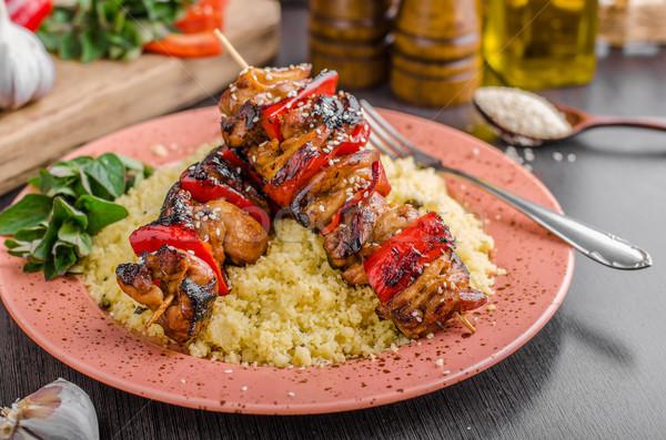 Сток-фото: куриные · соус · здоровое · питание · продовольствие · фон