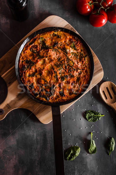 Vegetarian frittata with potatoes Stock photo © Peteer