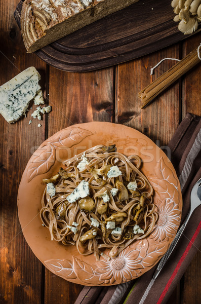 Wholemeal pasta with oyster Stock photo © Peteer