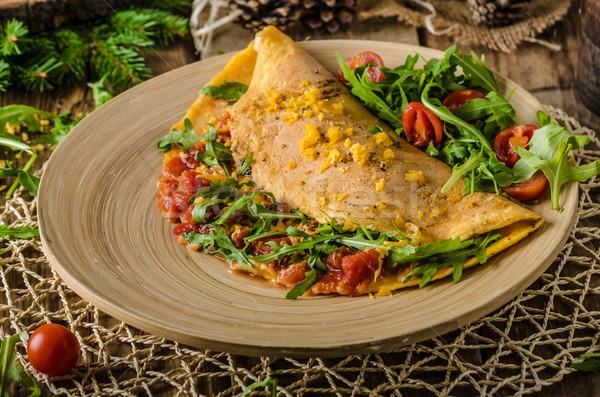 Vegetarian omelette Stock photo © Peteer