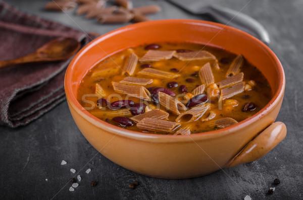 Pasta soup delish Stock photo © Peteer