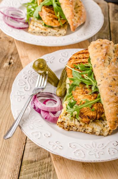 Chicken steak with salat Stock photo © Peteer