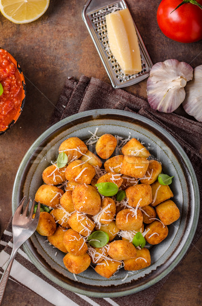 Golden fried mini croquette Stock photo © Peteer