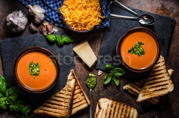 Stock photo: Roasted tomato soup