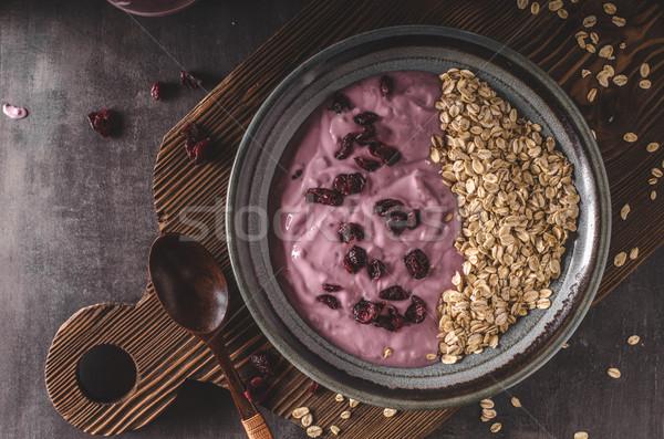 Arándanos yogurt saludable bio desayuno frutas Foto stock © Peteer
