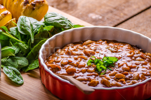 辛い カウボーイ 豆 ハーブ 唐辛子 ハラペニョ ストックフォト © Peteer