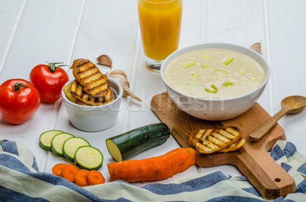 Creamy Vegetable Soup Stock photo © Peteer