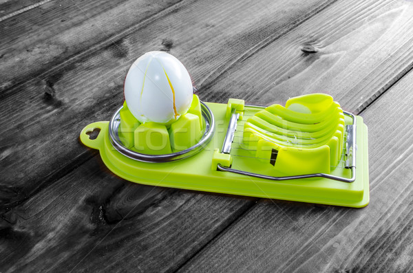 Boiled egg slicer Stock photo © Peteer