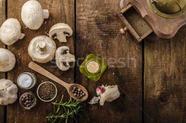 Bio ajo especias setas casa Foto stock © Peteer