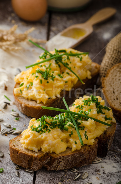 Scrambled eggs Stock photo © Peteer