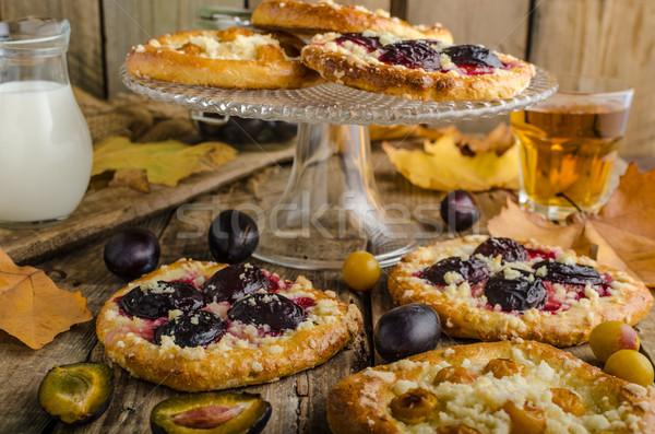 Сток-фото: традиционный · чешский · торт · древесины · фрукты