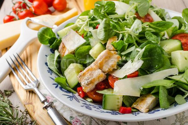 Salata ızgara tavuk taze parma'ya ait arka plan tavuk Stok fotoğraf © Peteer