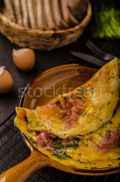 Ham and egg omelette Stock photo © Peteer