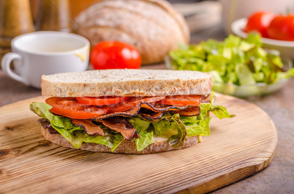 Blt sandwich laitue saine pain alimentaire Photo stock © Peteer