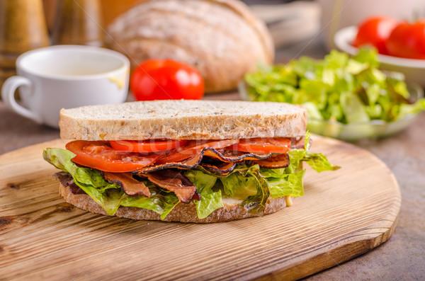 Blt sandwich sla gezonde brood voedsel Stockfoto © Peteer
