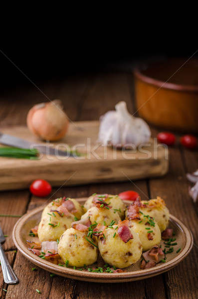 Bacon dumplings delish food Stock photo © Peteer
