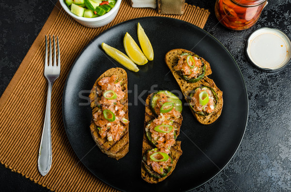 Salmon tartar Stock photo © Peteer