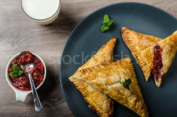 赤 スグリ ミント 新鮮な牛乳 食品 背景 ストックフォト © Peteer