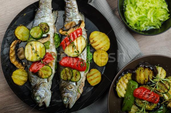 焼き トラウト 地中海 野菜 新鮮な 魚 ストックフォト © Peteer