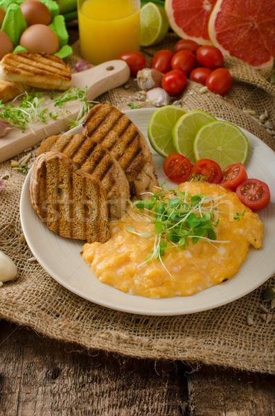 Rántotta krémes bolyhos panini pirítós citrus Stock fotó © Peteer