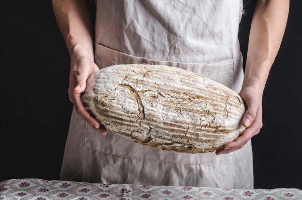 домашний хлеб повар место Сток-фото © Peteer