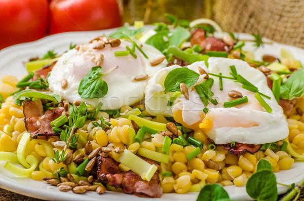 春 サラダ 卵 新鮮な ハーブ ストックフォト © Peteer