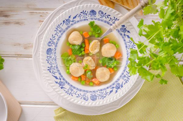 Soep kip voedsel fotografie achtergrond Stockfoto © Peteer