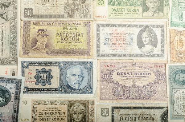 Old Czech banknotes, money Stock photo © Peteer