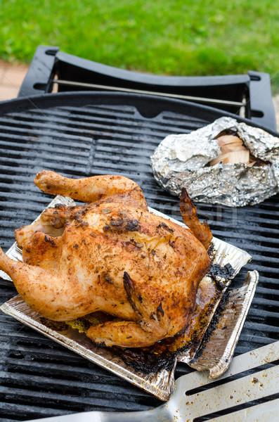 курица-гриль все фаршированный гриль чистой день Сток-фото © Peteer