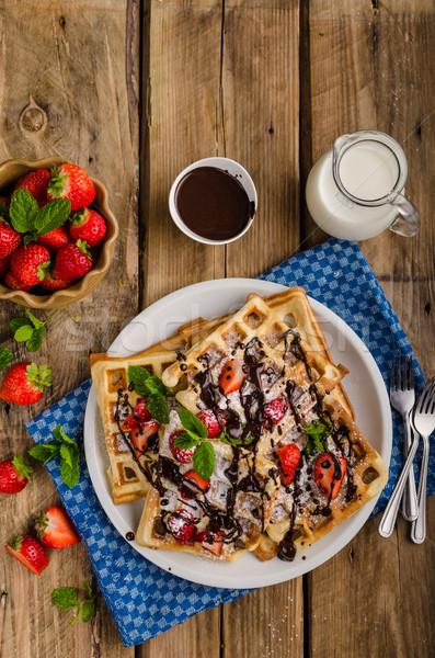 Original Belgian waffles Stock photo © Peteer