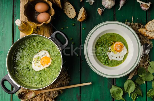 Soup of young peas Stock fotó © Peteer