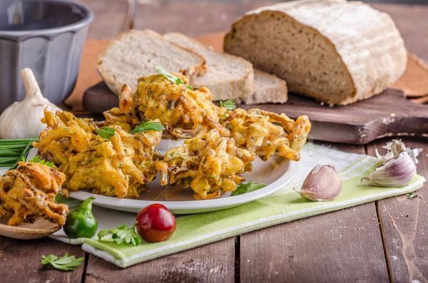ぱりぱり タマネギ 屋台の食べ物 ハーブ ニンニク ストックフォト © Peteer