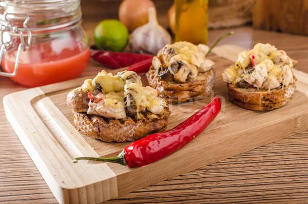 Diablo brindis pollo carne chile queso Foto stock © Peteer