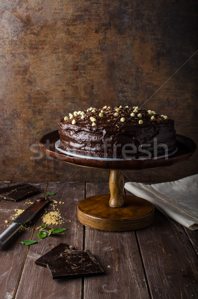 Chocolate cake three layers Stock photo © Peteer