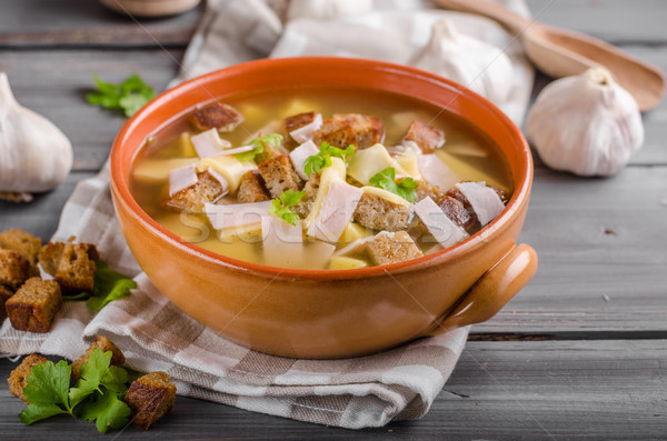 Stock photo: Garlic soup