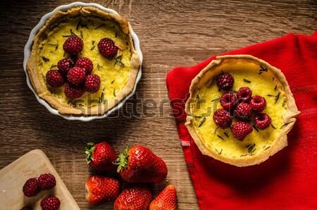 Limão alecrim creme madeira Foto stock © Peteer