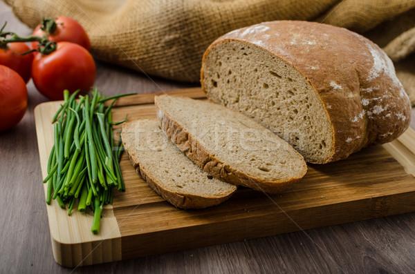 Saudável café da manhã caseiro cerveja pão queijo Foto stock © Peteer