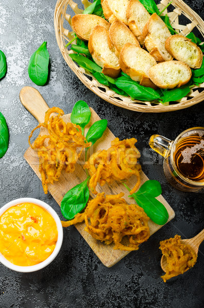 Crispy Onion Bhajis Stock photo © Peteer