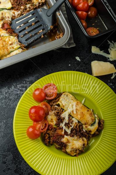 Foto d'archivio: Zucchine · nastro · lasagna · parmigiano · formaggio · cena