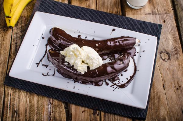 Bananas in chocolate Stock photo © Peteer