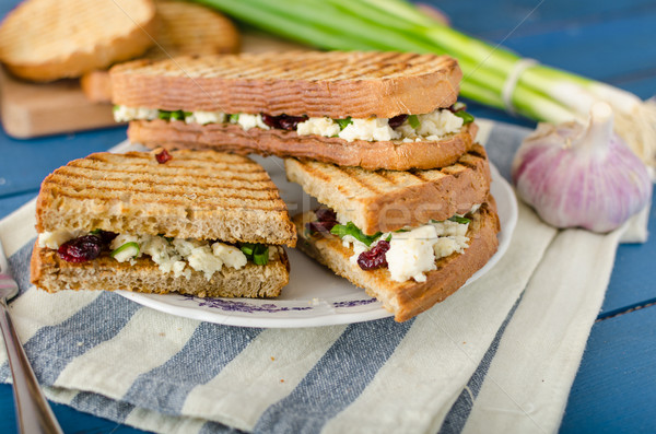 Sandwich with blue cheese and cranberries Stock photo © Peteer