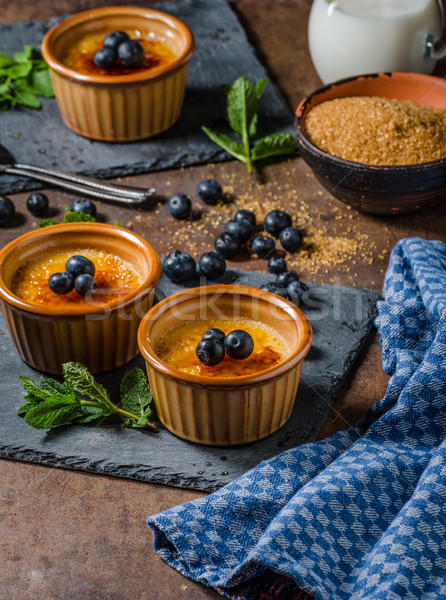Creme brulee with berries Stock photo © Peteer