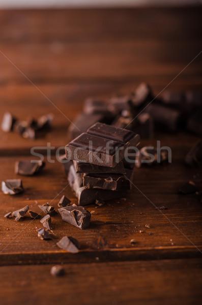 Pure chocola product fotografie klaar tekst Stockfoto © Peteer